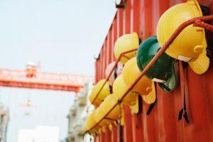 construction, helmets, building